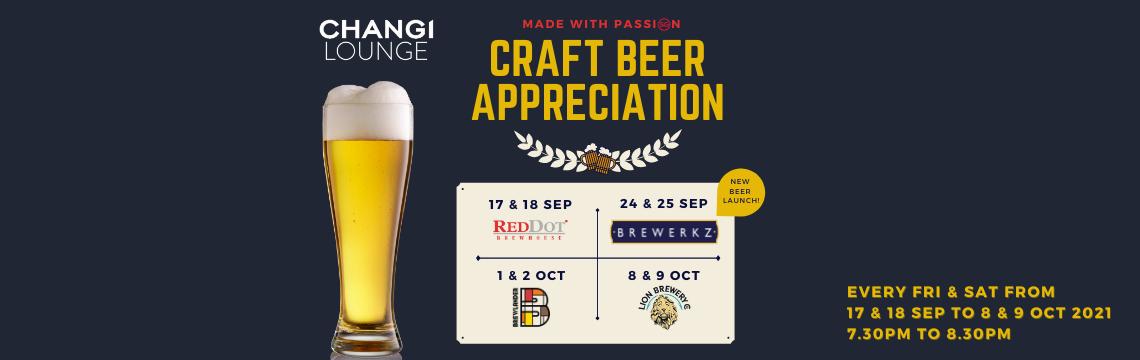 Craft Beer Appreciation @ Changi Lounge
